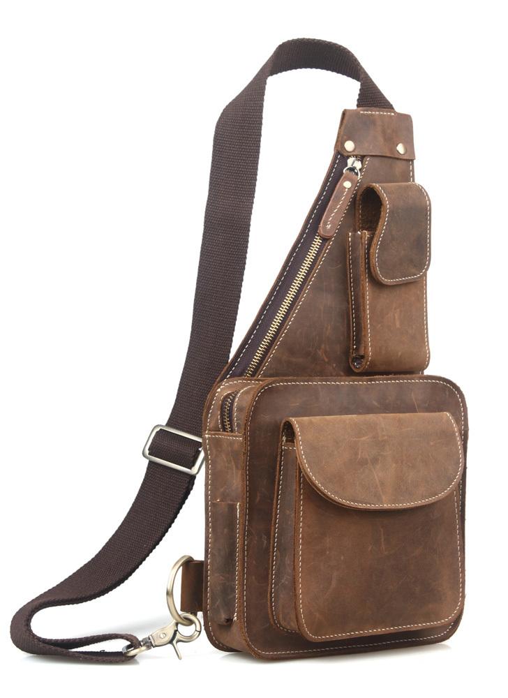 mens sling bag leather bags for men mens crossbody bag