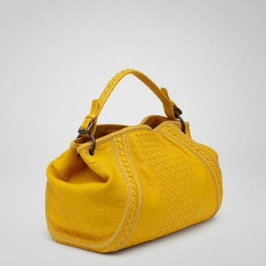 yellow purse brown purse kathy van zeeland purse
