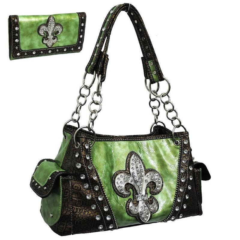 Whole Fleur De Lis Handbags And Purses On Bags